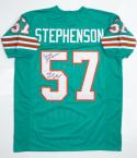 Dwight Stepehenson Autographed Teal Pro Style Jersey AllDecade INS JerseySource