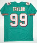 Jason Taylor Signed /Autographed Teal Pro Style Jersey JSA Witness Authenticated