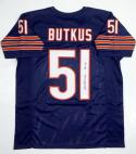 Dick Butkus Autographed Blue Pro Style Jersey with HOF- JSA Witness Auth