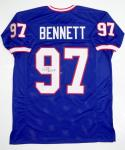 Cornelius Bennett Autographed Blue Pro Style Jersey- JSA Witness Authenticated