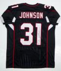 David Johnson Autographed Black Pro Style Jersey- JSA Witnessed Authenticated