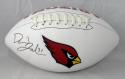 David Johnson Autographed Arizona Cardinals Logo Football (Left Side)- JSA W Authenticated