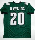 Brian Dawkins Autographed Green Pro Style Jersey- JSA W Authenticated