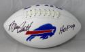 Bruce Smith Autographed Buffalo Bills Logo Football w/ HOF- JSA W Auth