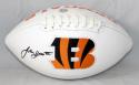 John Ross Autographed Cincinnati Bengals Logo Football- JSA Witness Auth