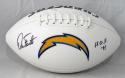 Dan Fouts Autographed Chargers Logo Football w/ HOF- JSA W Auth