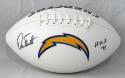 Dan Fouts Autographed Chargers Logo Football w/ HOF- JSA W Auth