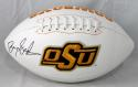 Barry Sanders Autographed OSU Logo Football- JSA W Authenticated