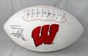 TJ Watt Autographed Wisconsin Badgers Logo Football -JSA W Auth/ Watt Holo