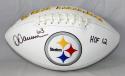 Dermonti Dawson Autographed Pittsburgh Steelers Logo Football- JSA Witn HOF INSC