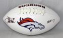 Terrell Davis Autographed Denver Broncos HOF 17 Logo Football- JSA Witness Auth