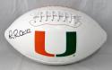 Michael Irvin Autographed Miami Hurricanes Logo Football- JSA W Auth