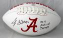 Jonathan Allen Autographed Alabama Logo Football w/ Natl Champs- SGC Auth