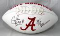 Cornelius Bennett Autographed Alabama Logo Football w/ Insc- JSA W Auth