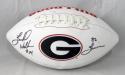 Herschel Walker Autographed Georgia Logo Football w/ Heisman - JSA W Auth