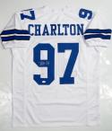 Taco Charlton Autographed Blue Pro Style Jersey- JSA Witnessed Auth
