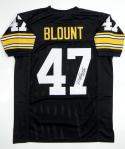 Mel Blount Autographed Black Pro Style Jersey with HOF- JSA Witnessed Authenticated
