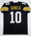 Roy Gerela Autographed Black Pro Style Jersey with Insc- Jersey Source Auth