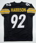 James Harrison Autographed Black Pro Style Jersey- JSA Witnessed Authenticated