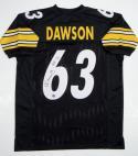 Dermonti Dawson Autographed Black Pro Style Jersey w/ HOF- Jersey Source Auth