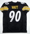 TJ Watt Autographed Black Pro Style Jersey  JSA-W Auth