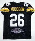Rod Woodson Autographed  Black Pro Style Stat Jersey- JSA W Authenticated