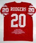 Johnny Rodgers Autographed Red Stat Jersey- JSA W Authenticated