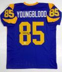 Jack Youngblood Autographed Blue Pro Style Jersey W/ HOF- JSA W Auth