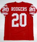 Johnny Rodgers Autographed Red Jersey- JSA W Authenticated