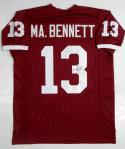 Martellus Bennett Autographed Maroon Jersey- JSA W Authenticated
