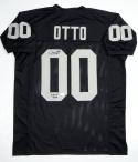 Jim Otto Autographed Black Pro Style Jersey With HOF- JSA Witness Authenticated