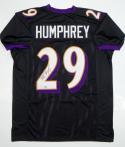 Marlon Humphrey Autographed Black Pro Style Jersey - SGC Authenticated