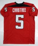 Michael Crabtree Autographed Red College Style Jersey- JSA W Authenticated