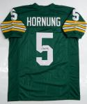 Paul Hornung Autographed Green Pro Style Jersey - JSA Witnessed Auth