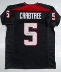 Michael Crabtree Autographed Black College Style Jersey- JSA W Authenticated
