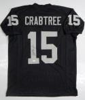 Michael Crabtree Autographed Black Pro Style Jersey- JSA W Authenticated