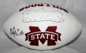Dak Prescott Autographed Mississippi State Bulldogs Logo Football JSA W WattHolo