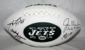 Klecko, Gastineau, Lyons, Salaam Signed New York Jets Logo Football- JSA W  INSC