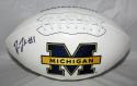 Devon Funchess Autographed Michigan Wolverines Logo Football JSA W Authenticated