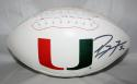 Ray Lewis Autographed Univ of Miami Hurricanes Logo Football PSA/DNA Auth *right