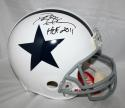 Deion Sanders Signed F/S Dallas Cowboys TB White ProLine Helmet w/ HOF- JSA W Auth