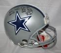Michael Irvin Autographed F/S ProLine Dallas Cowboys Helmet w/ 2 Insc *Blk - JSA W Auth