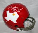 Len Dawson Autographed SB MVP HOF Dallas Texans Full Size TK Helmet - JSA W Auth