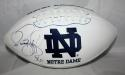 Jerome Bettis Autographed Notre Dame Fighting Irish Logo Football- JSA Witness