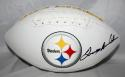 Terry Bradshaw Autographed Pittsburgh Steelers Logo Football- JSA Witness *right