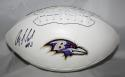 Anquan Boldin Autographed Baltimore Ravens Logo Football- JSA Witness Auth