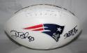 Deion Branch Autographed New England Patriots SB MVP INSC Logo Football JSA Wit