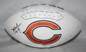 Jim McMahon Autographed Chicago Bears Logo Football JSA Witness Authenticated
