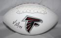 Vic Beasley Autographed Atlanta Falcons Logo Football JSA Witness Authenticated
