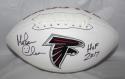 Morten Andersen HOF 2017 Autographed Atlanta Falcons Logo Football JSA W Auth